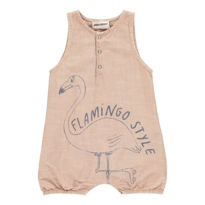 Bobo Choses Flamingo Burn Out Percale Romper-product