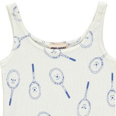 Bobo Choses Organic Cotton Tennis Racket Ribbed Vest Top-product