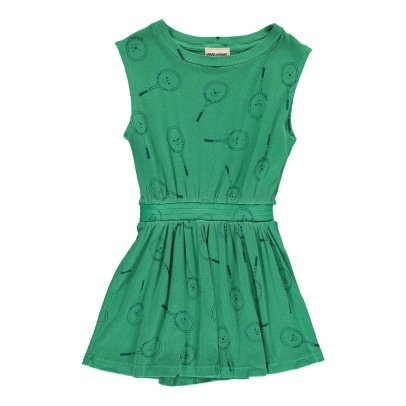 Bobo Choses Tennis Racket Organic Cotton Ribbed Dress-listing
