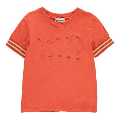 Bobo Choses Organic Cotton Weightlifting V-Neck T-Shirt-listing
