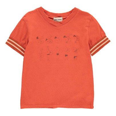 Bobo Choses T-shirt Col V Weightlifting Coton Bio-listing