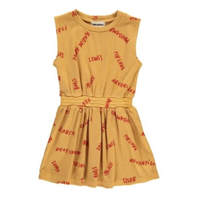 Bobo Choses The Legends Organic Cotton Ribbed Tennis Dress-listing