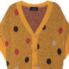 The Animals Observatory Horsefly Polka Dot Short Sleeve Cardigan-listing