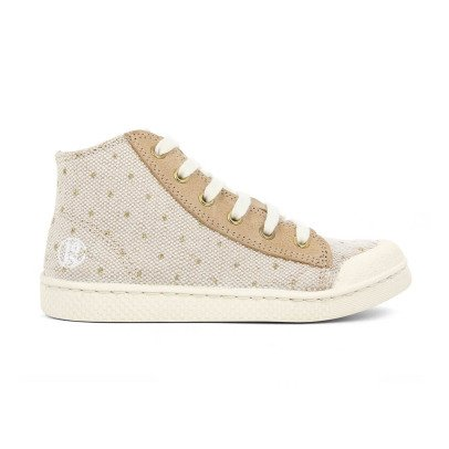 10 IS Sneakers pois lacci beige-listing