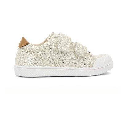 10 IS Sneakers Basse Velcro Lurex Dorate-listing