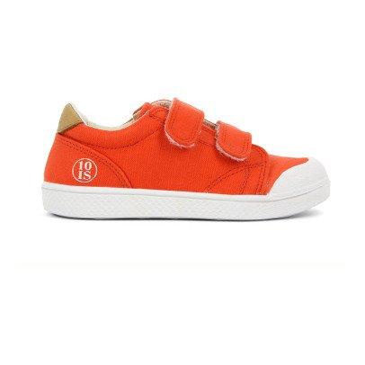 10 IS Baskets Basses à Scratchs Chevrons Orange-listing