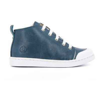 10 IS Zapatillas Cuero Altas Cremalleras Ten Mid Lace Azul -listing