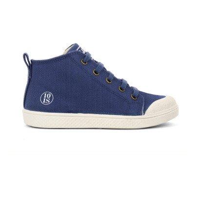 10 IS Sneakers zip lacci blu-listing