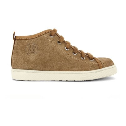 10 IS Sneakers basse scamosciate zip lacci camel-listing