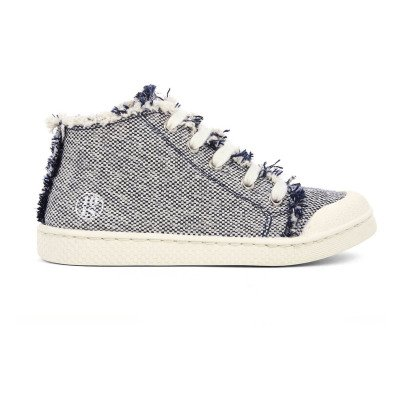 10 IS Sneakers tela zip blu-listing