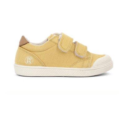10 IS Sneakers Basse Velcro Ocra -listing
