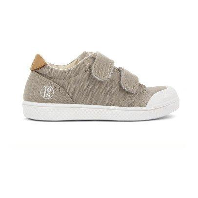 10 IS Sneakers Basse Velcro Beige-listing
