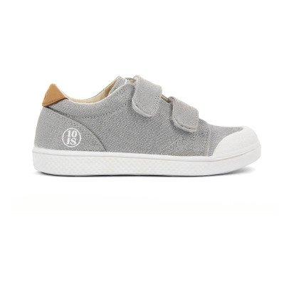 10 IS Sneakers Basse Velcro Lurex Grigio-listing