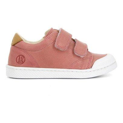 10 IS Sneakers Basse Pelle Velcro Rosa antico-listing