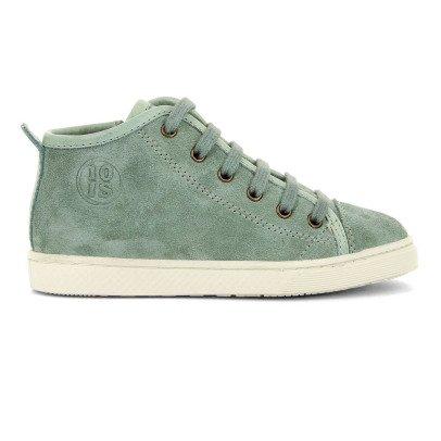 10 IS Sneakers basse scamosciate zip lacci verdi-listing