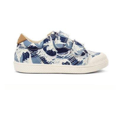 10 IS Zapatillas Bajas Velcro Olas Azul-listing