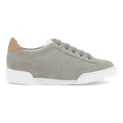 10 IS Sneakers basse scamosciate zip lacci grigio-listing
