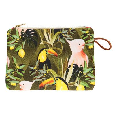 Maison Baluchon Gusset Jungle Zip-Up Pouch-listing