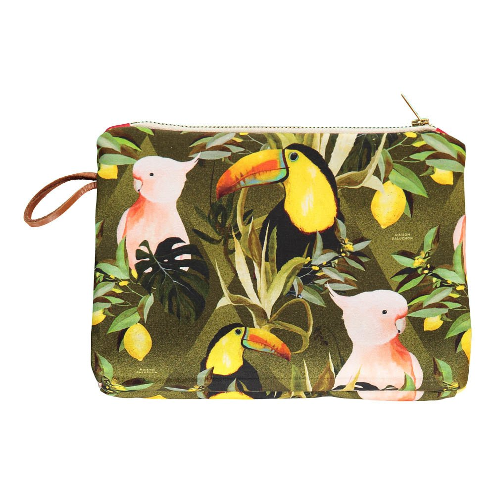 Gusset Jungle Zip-Up Pouch-product