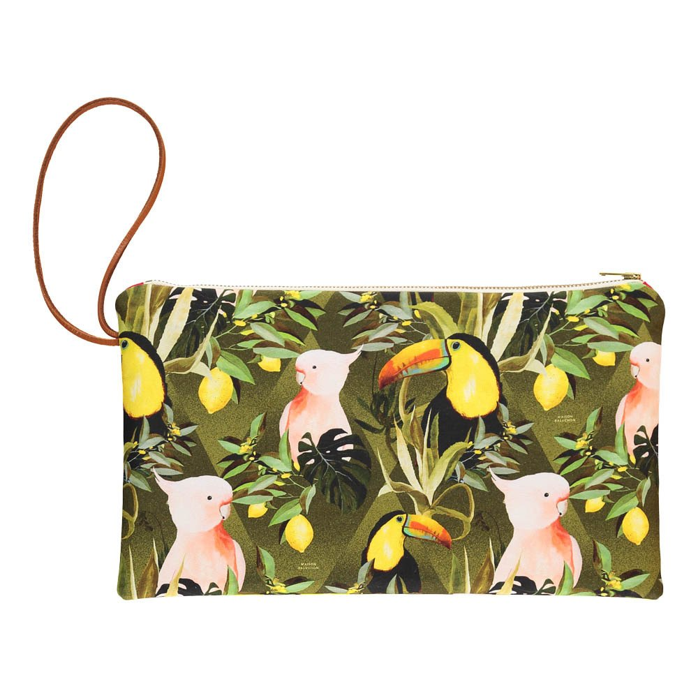 Jungle Zip-Up Flat Pouch-product