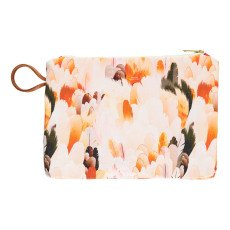 Maison Baluchon Gusset Wild Feather Zip-Up Pouch-listing