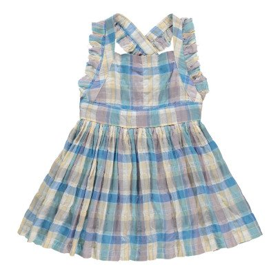 Morley Flower Checked Pinafore Dress-product