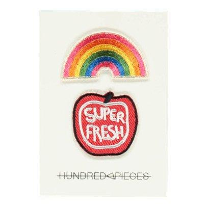Hundred Pieces Bügelabzeichen Super Fresh Rainbow-listing