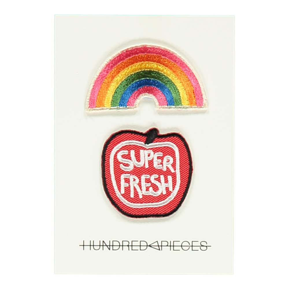 Hundred Pieces Rainbow Super Fresh Badges-product