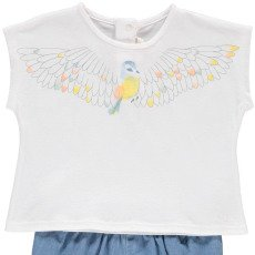 Chloé T-Shirt Vogel +Shorts Denim -listing