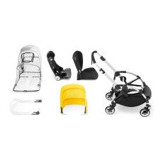 Bugaboo Poussette complète BEE³ châssis Alu, assise grise, rouge-listing