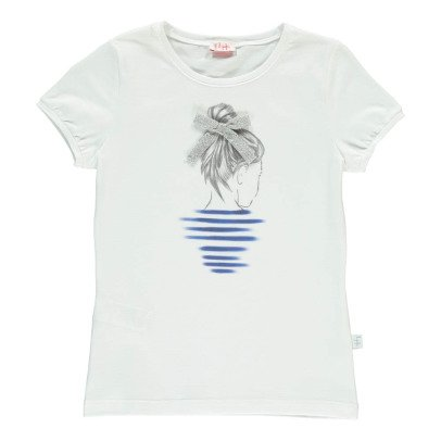 Il Gufo Little Girl Chignon T-Shirt-listing