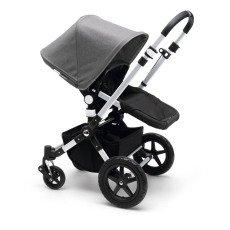 Bugaboo Cochecito completo CAMELEON³ chasis aluminio, base negra, gris jaspeado-listing