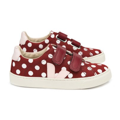 Veja Arcade Polka Dot Leather Velcro Trainers-listing