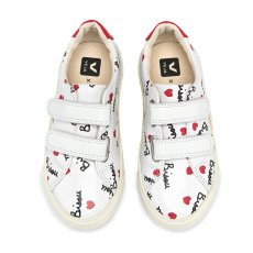 Veja Cabanas Bisous x Mathilde Esplar Leather Velcro Trainers -listing