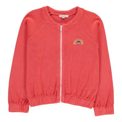 Hundred Pieces Rainbow Towelling Sweatshirt with Zip-product