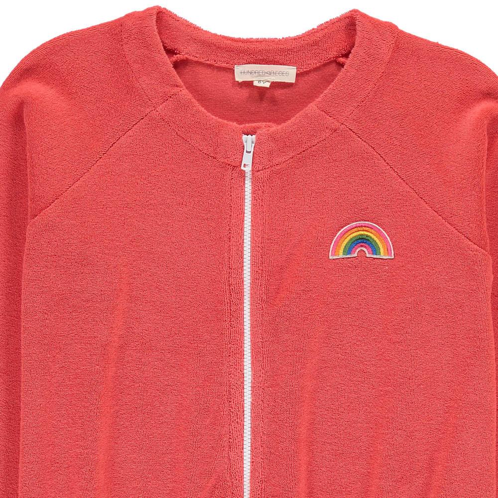 Rainbow Towelling Sweatshirt with Zip-product