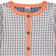 Bonton Jacquard Check Cardigan-listing
