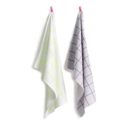 Hay Kitchen Tile Cotton Tea Towels - Set of 2-product
