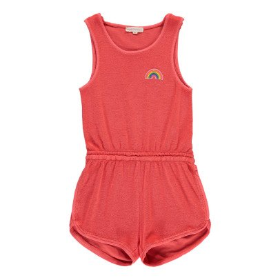 Hundred Pieces Rainbow Towelling Playsuit-product