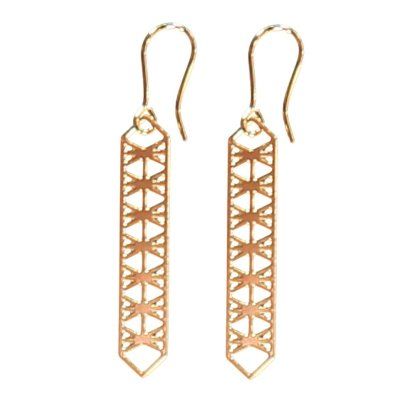 Sessun Gian Openwork Drop Earrings-listing