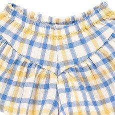 Atelier Barn Golda Japanese Checked Cotton Shorts-listing