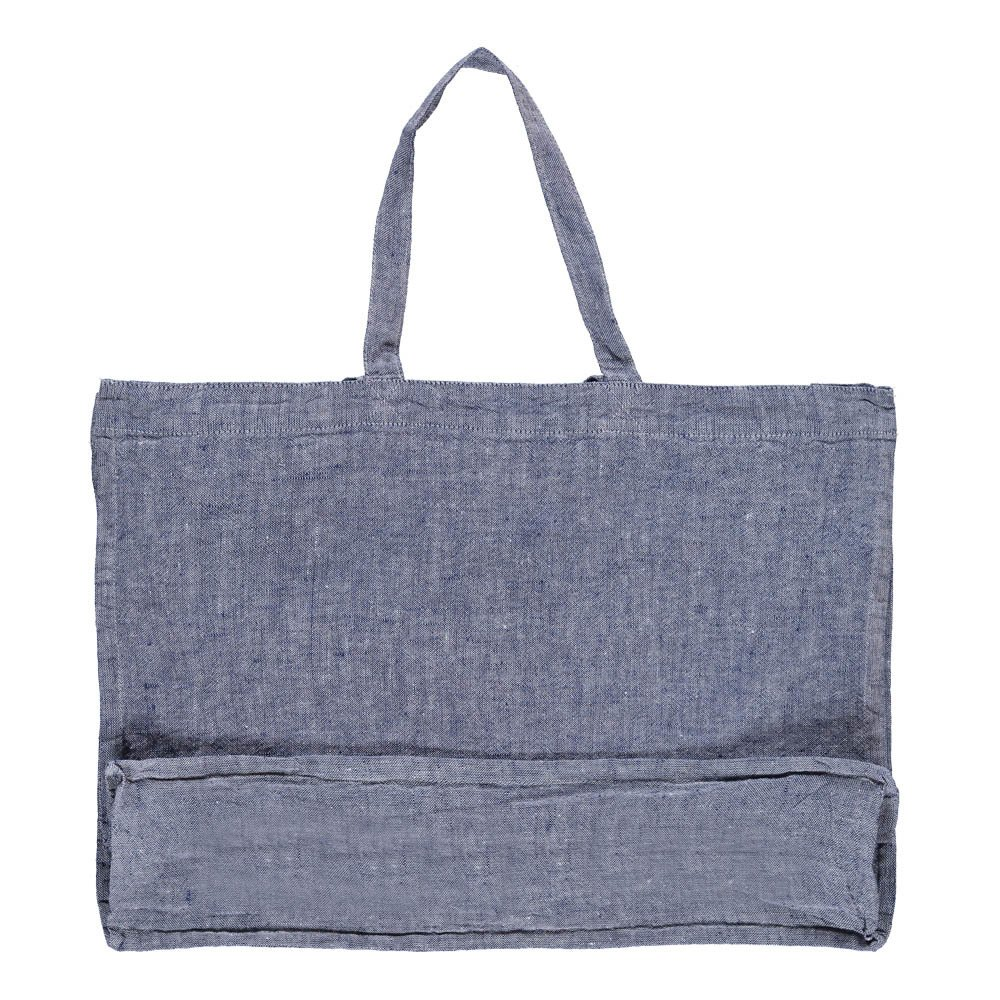 Linge Particulier Chambray Washed Linen Shopper-product