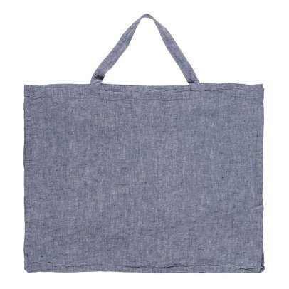 Linge Particulier Bolso gigante lino lavado Chambray-listing