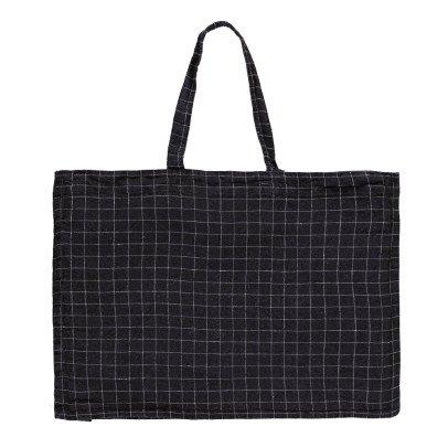 Linge Particulier Karierte Tasche aus Leinen -listing