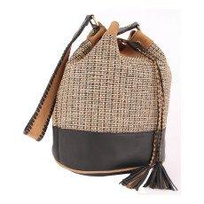Sessun Tomesha Jacquard Leather Bucket Bag-listing