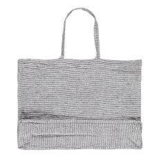 Linge Particulier Black and White Striped Washed Linen Shopper-listing