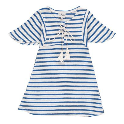 Atelier Barn Lina Striped Linen and Cotton Dress-listing