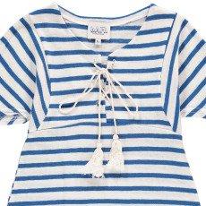 Atelier Barn Gestreiftes Kleid aus Baumwolle und Leinen Lina -listing