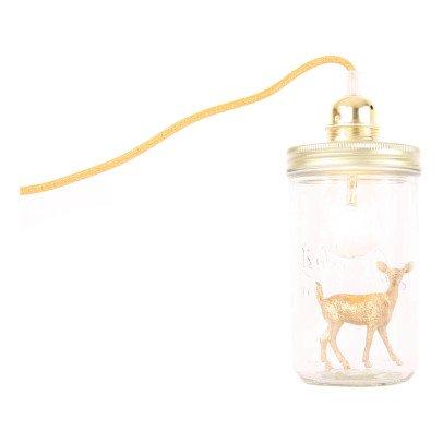 La tête dans le bocal Glas-Lampe Bambi -listing