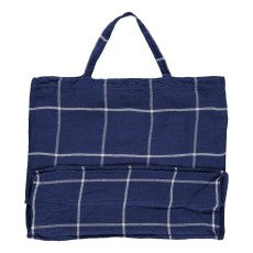 Linge Particulier Borsa lino lavato Tartan-listing